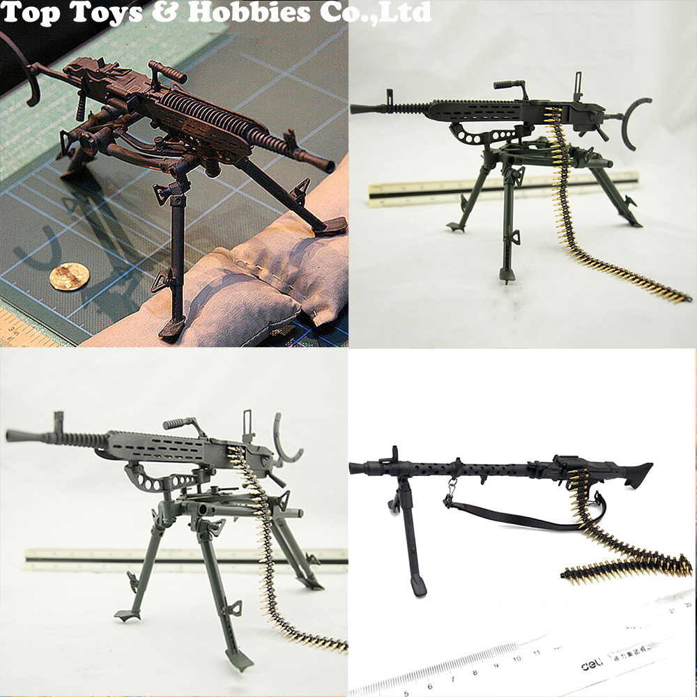 1/6 Scale Model US Army Browning M2 Machine Gun MG37 MG34 MG36 Flexible Weapon Toys For Action Figure Accesssories