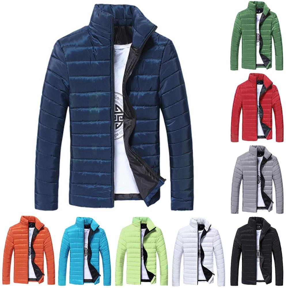 Winter Coat Plus Size S-5XL Men NEW Fashion Solid Cotton Stand Zipper Warm Autumn Thick Coat Jacket 9 Colors Freeship пальто