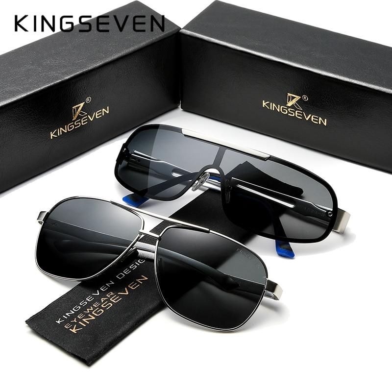 3PCS Combined Sale KINGSEVEN Brand Design Silver Frame Sunglasses Men Polarized UV Protection Oculos De Sol