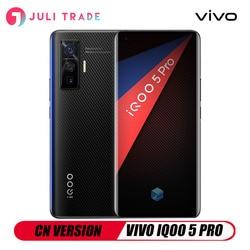 VIVO IQOO 5 PRO 5G Snapdragon 86 5G 120 Гц Быстрая зарядка 120 Вт сканер отпечатков пальцев Android 10 CN версия 50MP Тройная камера Google Play
