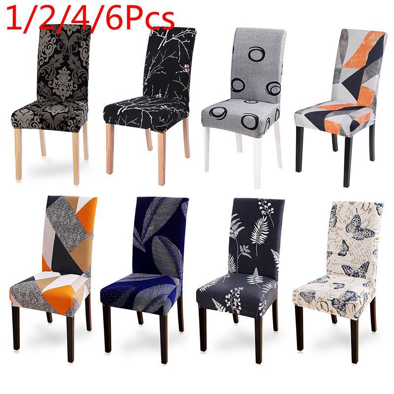 1/2/4/6 шт. печатных крышка стула эластичные чехлы на стулья растянуть банкет столовой отеля съемным моющимся рука офисные Обложка|Чехлы на стулья|   | АлиЭкспресс
