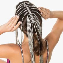 Роскошная женская Драгоценная цепочка для волос 2020 аксессуары