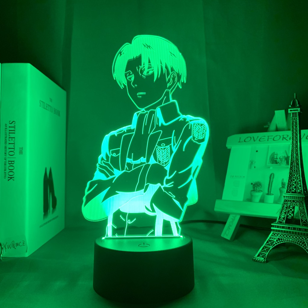Kids Gift 3D Night Lamp Anime Boy Family Friend Colleague Bedside Bedroom Holiday Christmas Birthday Gift Night Light