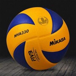 Оригинальный японский волейбол Mikasa MVA330, профессиональный официальный тренировочный волейбол из искусственной кожи