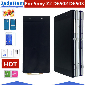 цена на Original 5.2'' D6502 D6503 D6543 LCD For SONY Xperia Z2 Display Touch Screen Digitizer Assembly For SONY Xperia Z2 LCD