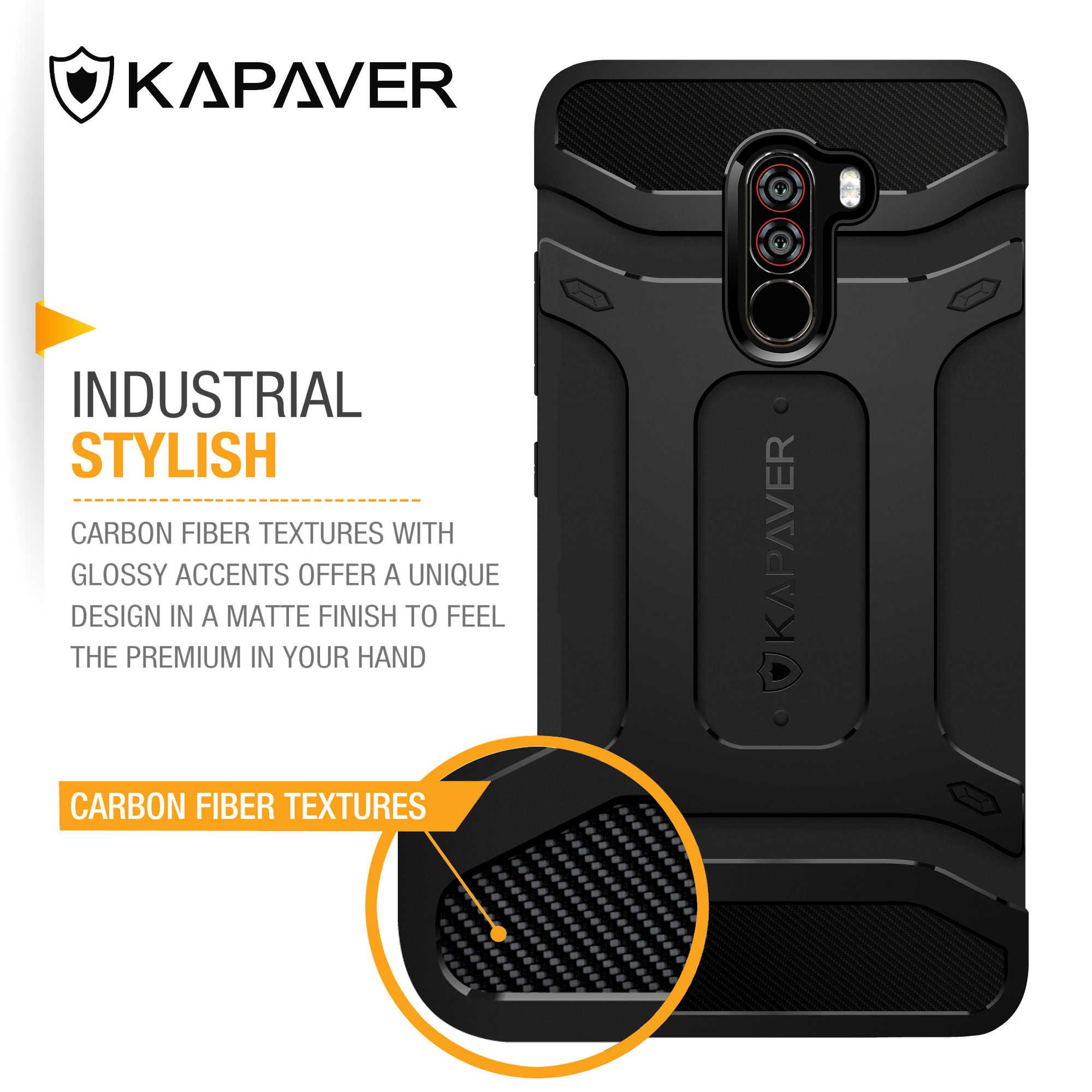 KAPAVER роскошный силиконовый чехол для Xiaomi Poco F1 Poco Phone F1 ЗАЩИТА ТПУ противоударный бампер задний Чехол для телефона чехол