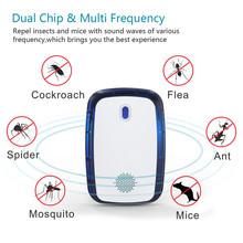 Ultradźwiękowy odstraszacz owadów przeciw komarom elektroniczny szczur mysz karaluch odstraszacz szkodników odstraszacz LED lampka nocna UK ue wtyczka amerykańska tanie tanio DIGOO NONE CN (pochodzenie) Mosquito Killer White EU US UK