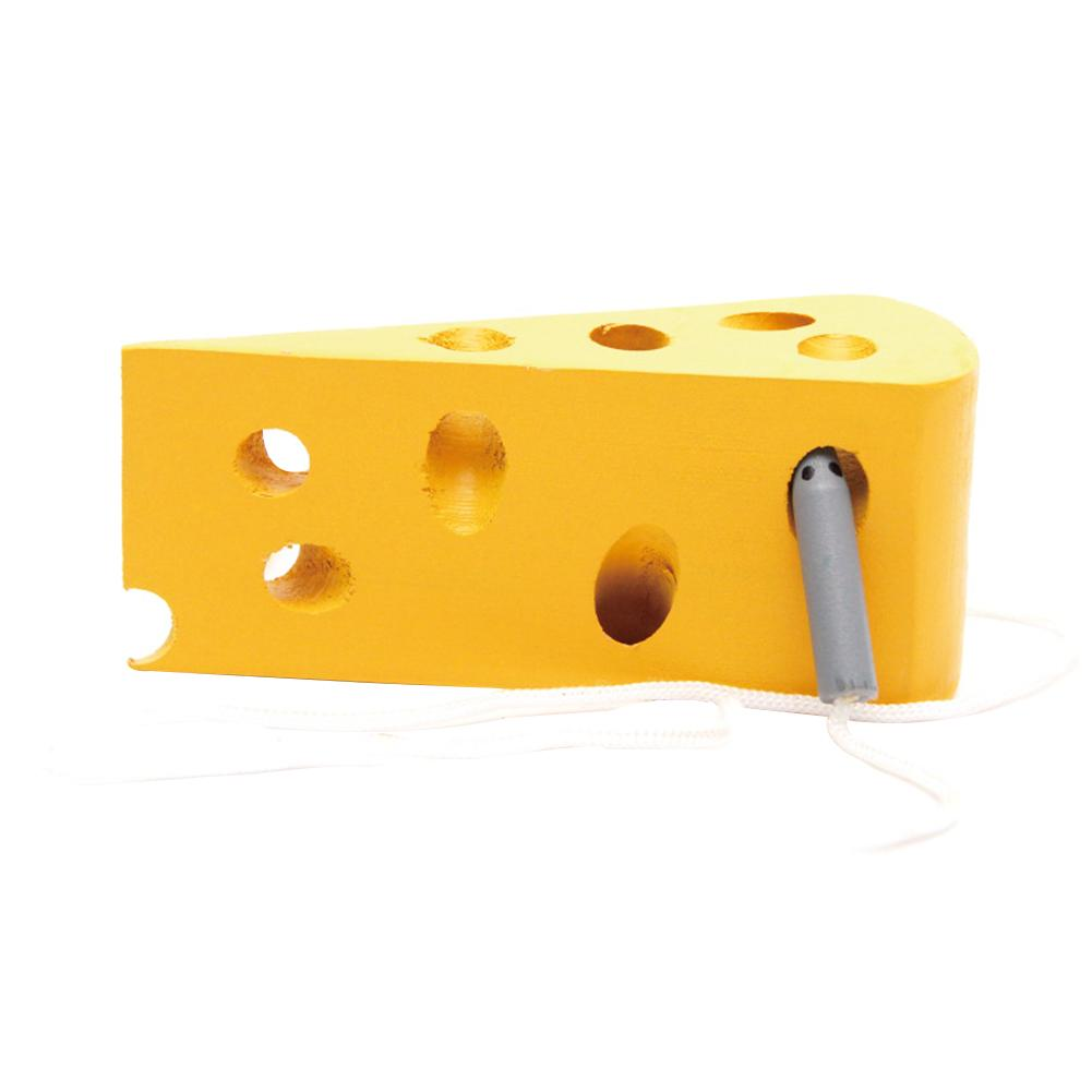 Clearance Early Education Children Series - Lines Game Woodens Lacing Cheese Toys Beneficials Wisdoms Emulate Toys