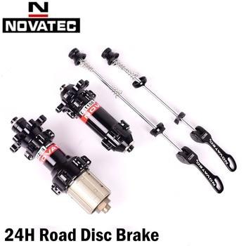 Novatec 24H Road Bike Hubs Quick Release Or Thru Axle 12*100mm 12*142mm 4 Sealed Bearing ABG Disc Brake Hub XD 11s D411SB D412SB