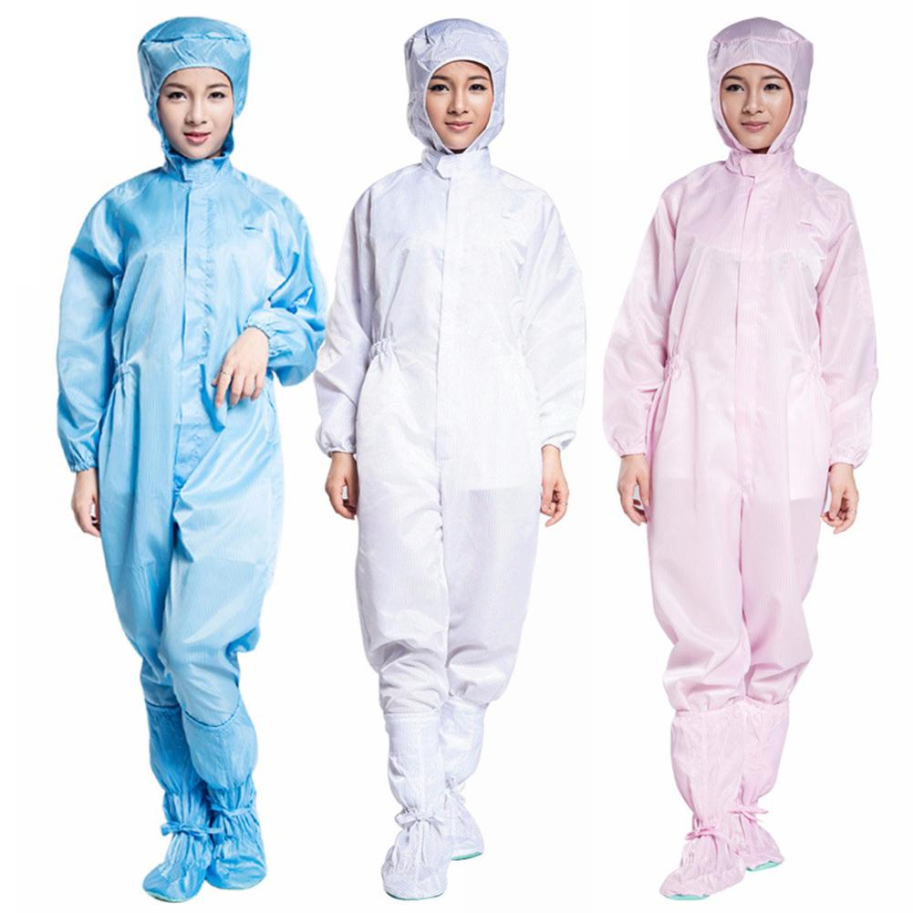 Unisex Hooded Coverall anti-static Dustproof work suit Chemical Protective Clothing isolation Safety Clothes Oil-Resistant Workw