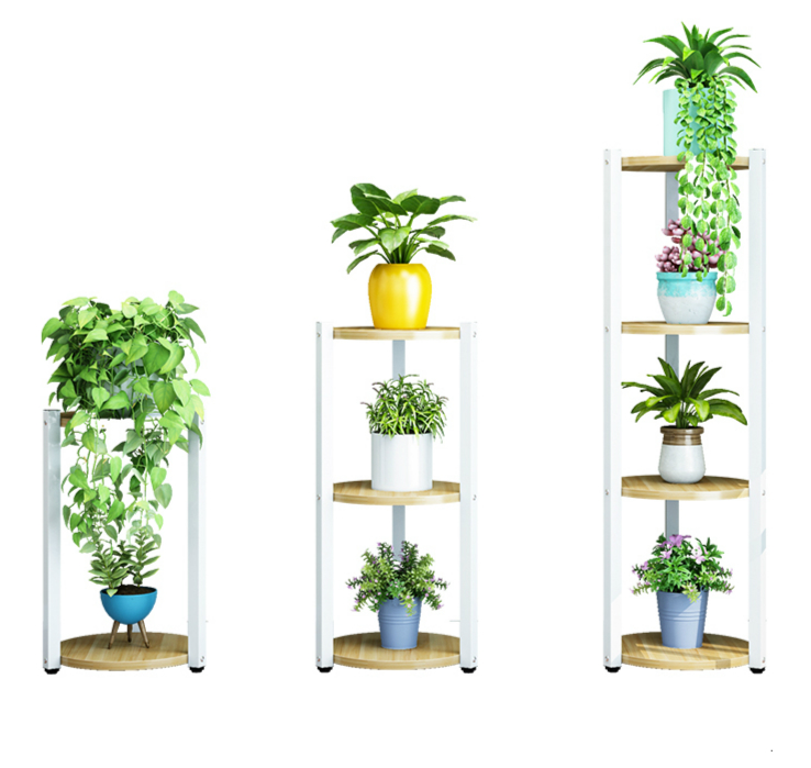 Interior Decoration Province Space Balcony Flower Rack Iron Art Of Shelf A Living Room To Ground Flowerpot Frame Flower Airs|Plant Shelves| |  - title=