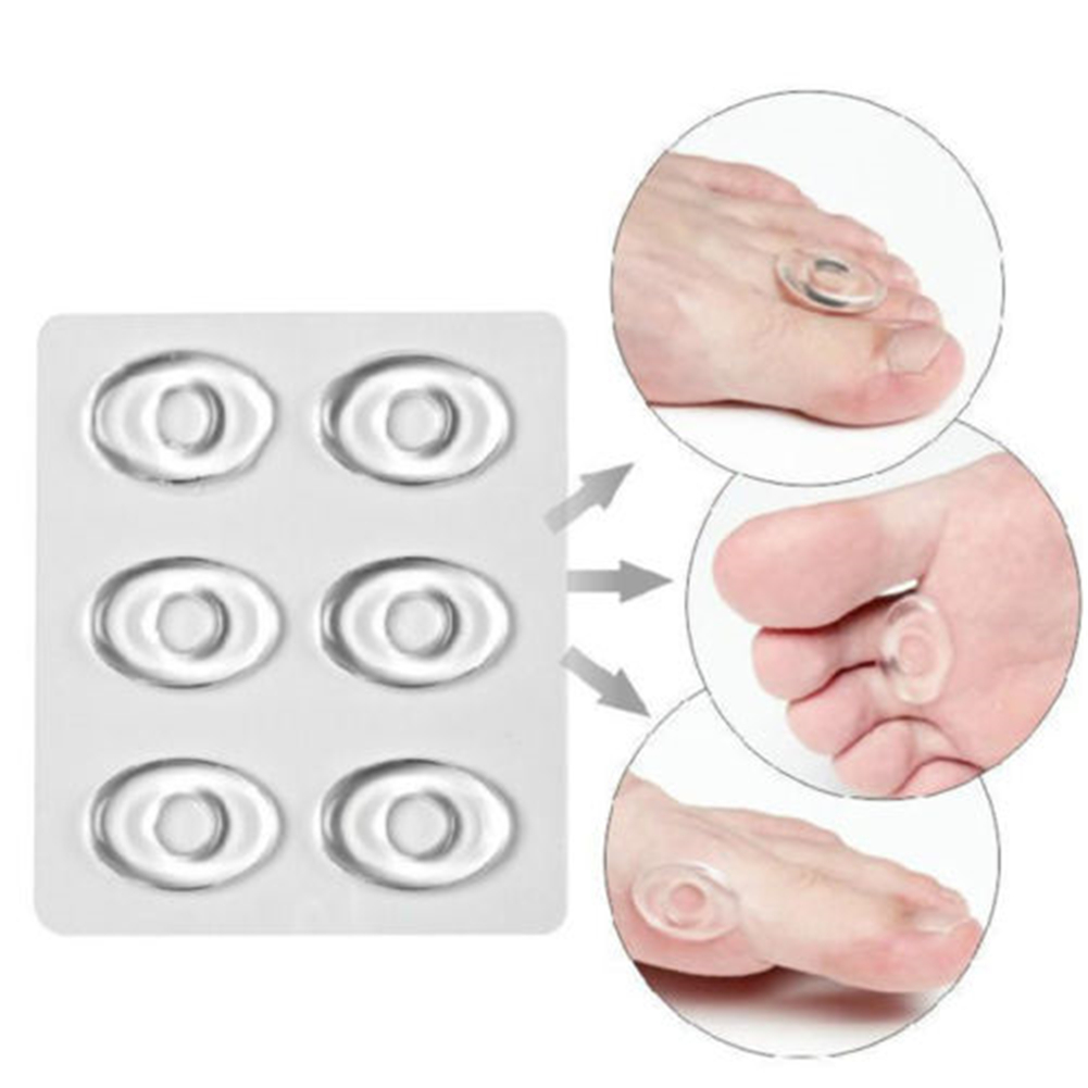 6 Pcs Soft Gel Toes Corn Cushions Instant Shoe Back Round Pads Relief Foot Bunion Pain Bunion Guard Insoles Foot Care Tools