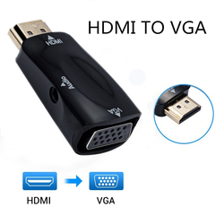 HDMI Male to VGA 15 Pin Female Adapter Audio Cable Converter FHD 1080P 720P 480P For PC Laptop TV Box Computer Display Projector