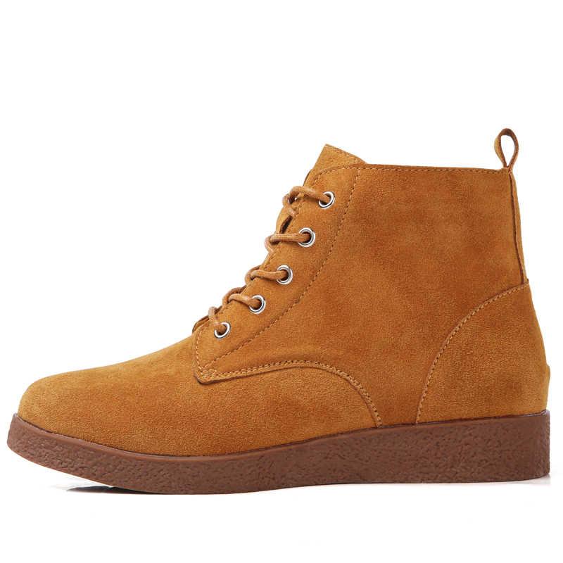 2019 ใหม่แฟชั่นผู้หญิงสบายๆข้อเท้ารองเท้ารองเท้าขนาดใหญ่หญิงสบายรองเท้าบู๊ตฤดูหนาวสำหรับผู้หญิง