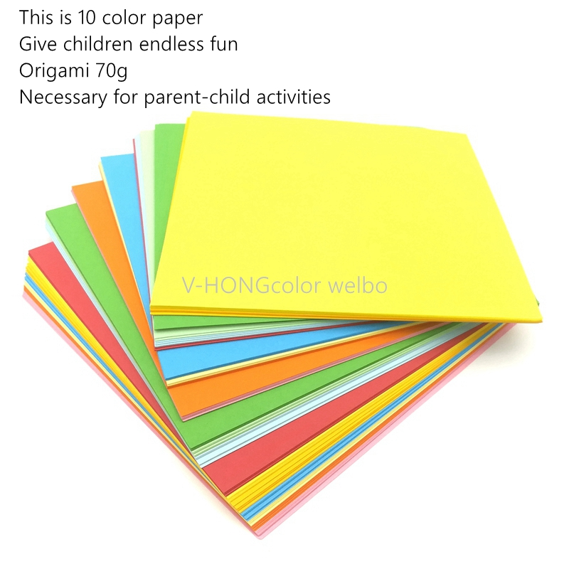 100sheets/bag 7x7cm 10x10cm 15x15cm Handmade Color Paper Cheap Floral Pattern DIY Kids Scrapbooking Decoration Origami Paper