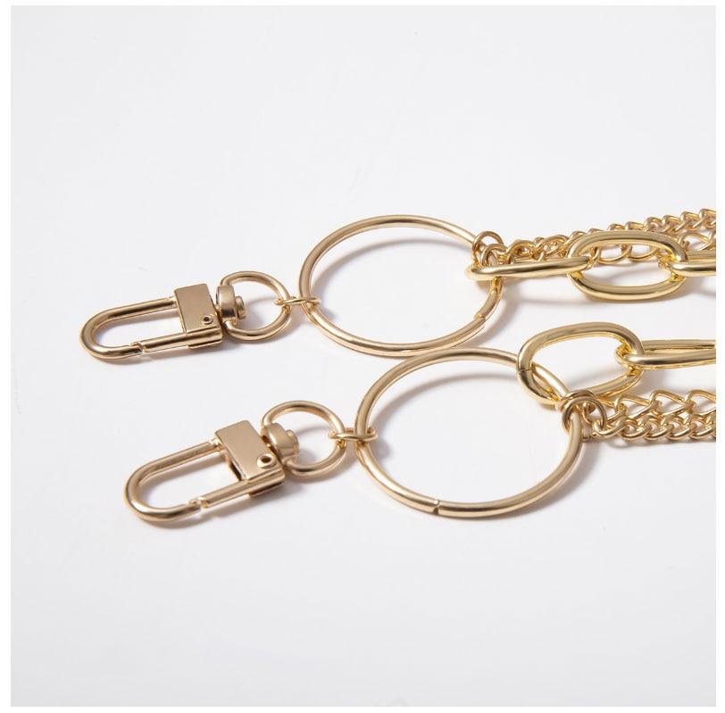 Женские панковские штаны с цепочкой, женские хип-хоп брюки с кисточками, серебряная с золотом цепь для штанов, женские крутые металлические цепочки на джинсах 290