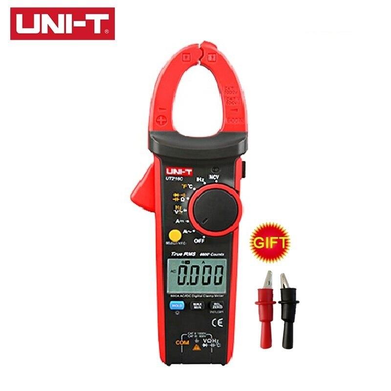 UNI-T UT216 série pince numérique mètres NCV V.F.C Diode LCD rétro-éclairage UT216C vrai RMS Test AC DC gamme automatique multimètres