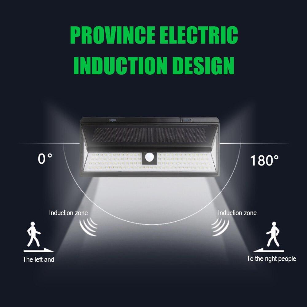 118 led solar luz pir sensor de