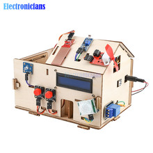 Kit de aprendizaje electrónico para casa inteligente, Kit para controlar de forma remota con placa PLUS, Sensor completo de serie de materiales para Arduino