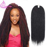 Verfeinert Haar 22 Zoll 0,8 cm Diamater Handgemachte Häkeln Zöpfe Senegalese Twist Haar Extensions Ombre Synthetische Zöpfe 22 Stränge/ pc