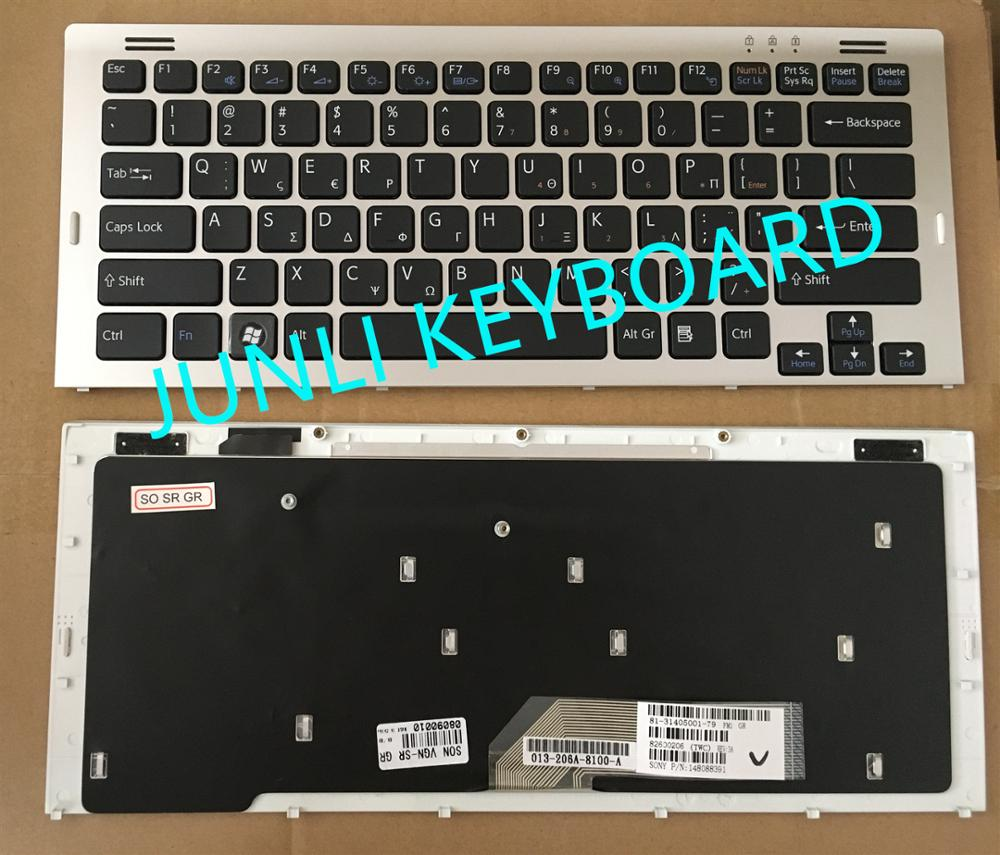 Laptop Keyboard for Sony VAIO VGN SR VGN-SR 148088322 81-31405002-07 United States US Black with Gray Frame