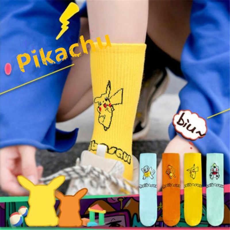 Del Fumetto Del Anime Pokemon Calzini e Calzettoni Pikachu Calze e Autoreggenti Cosplay Costumi Accessori Charmander Bulbasaur Squirtle del Tubo del Cotone Colorato