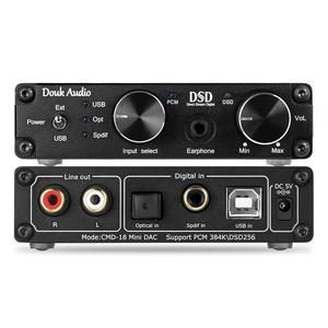 Image 5 - DOUK ses Mini XMOS XU208 USB DAC ses şifre çözücü DSD256 HiFi kulaklık amplifikatörü dönüştürücü RCA PCM384K/32Bit