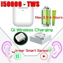 New Original i50000 TWS 1:1 In-ear 1536u Bluetooth Earphone Wireless Earbud Headphone Headset Aire 2 PK i9000 i12 elari Kulakli