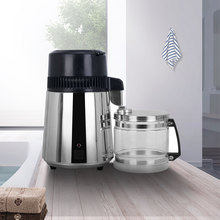 4L Home Pure Water Distiller Machine Distilled Water Distillation Purifier Filter Stainless Steel Glass Jar Carbon Filter Family