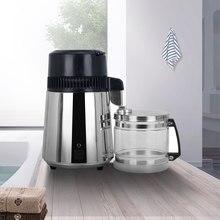 4L maison eau Pure distillateur Machine eau distillée Distillation purificateur filtre acier inoxydable verre pot filtre à charbon famille