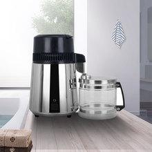 Máquina destiladora de agua pura para el hogar, 4L, filtro purificador de destilación de agua destilada, jarra de vidrio de acero inoxidable, filtro de carbono para familia