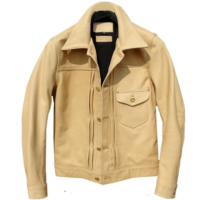 YR!Free shipping.Luxury batik cowhide jacket,classic casual 506 style,Slim Primary colors genuine leather coat,quality
