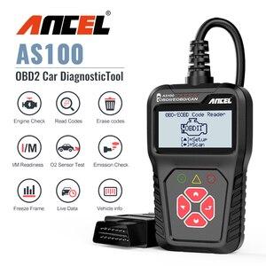 Image 1 - Ancel AS100 Obd2 سيارة أداة تشخيص OBD 2 السيارات الماسح الضوئي محرك محلل أداة رمز القارئ Obdii أداة مسح ضوئي PK ELM327 v1.5