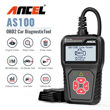 Strumento diagnostico dellautomobile di Ancel AS100 Obd2 OBD 2 lettore di codice dello strumento dellanalizzatore del motore dellanalizzatore automobilistico strumento di scansione Obdii PK ELM327 v1.5
