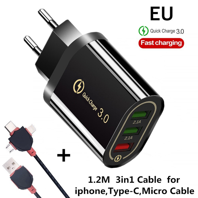 EU 3in1 Cable Black