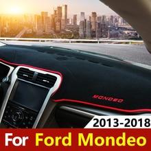 Car Dashboard Covers  Mat Anti-UV Non-slip Pad Sun Shade Carpets Protector Trim LHD for Ford Mondeo Fusion 2013- Accessories недорого