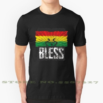 Bendiga de Jah moda Vintage camiseta T camisas Rastafari Ragga Zion raíces Irie Ska Kingston música Reggae B Reggaeton Dubstep