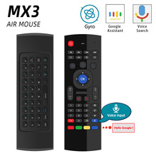 MX3 Control de voz teclado y ratón inalámbrico 2,4G RF Sensor de giroscopio productos para X96 H96 Android TV Box Mini PC del G10(China)