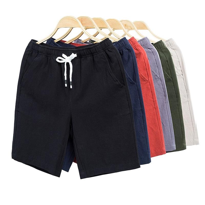 New Shorts Men Board Shorts 100%Cotton Fashion Style Man Cargo Comfortable Bermuda Beach Shorts Casual Trunks Male Outwear 5XL 9