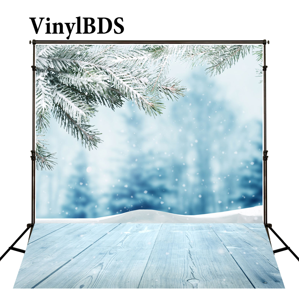 7x7FT Vinyl Backdrop Photographer,Winter,Wooden Bridge Cold River Background for Party Home Decor Outdoorsy Theme Shoot Props