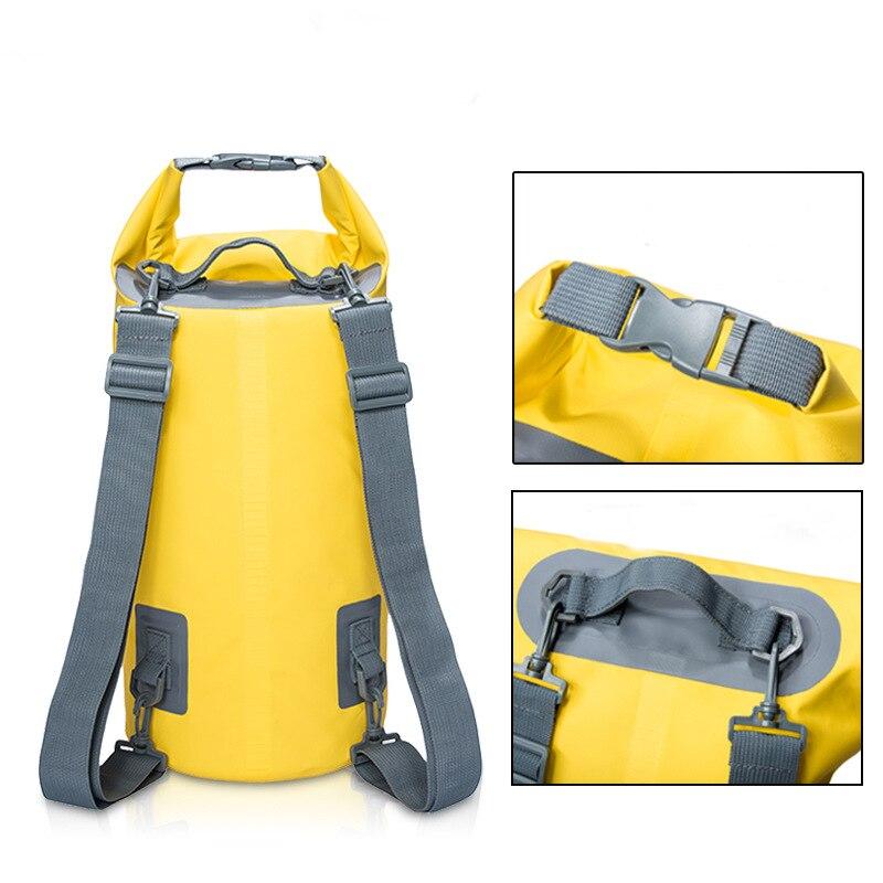 5-20L Outdoor River Trekking Bag Waterproof Backpacks Drifting Bucket Shoulders Upstream Bag Ultralight Travel Storage Bags