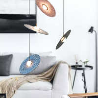 נורדי פשוט מלט צלחת מעופפת נברשת אור מעצב דגם חדר יצירתי אישיות חדר אוכל חדר נברשת מנורה