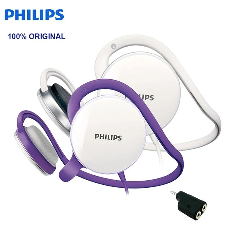 Philips SHM6110U Post-hanging Headset with Microphone Support Music & Movie & Game for Computer Mobile Phone Official Test image