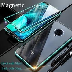 На Алиэкспресс купить стекло для смартфона magnetic adsorption case for vivo nex 3 nex 2 vivo iqoo neo cover front+back double-sided tempered glass metal cover bumper