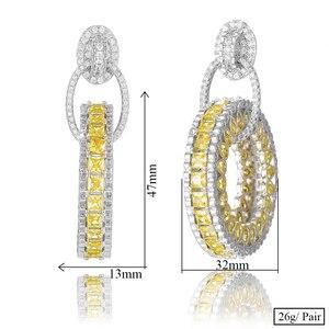 Image 5 - GODKI Jimbora Luxury Popular Round Pendant Dangle Earrings Full Mirco Paved Cubic Zircon Naija Wedding Earring Fashion Jewelry