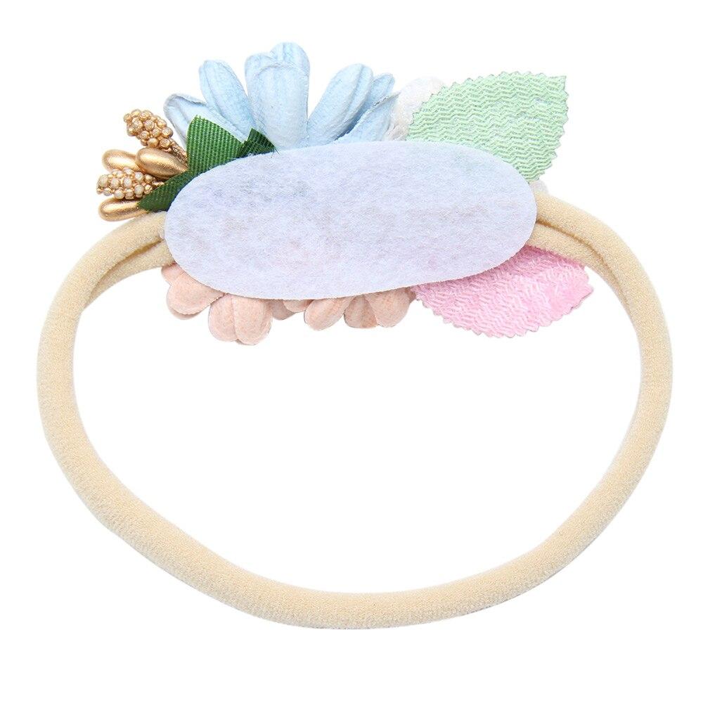 Peral Baby Headbands Flower For Girls Handmade Bundle Nylon Elastic Hair Band Baby Hairband Headdress Newborn