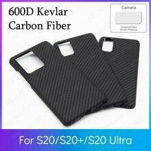 600D Kevlar אמיתי טהור סיבי פחמן קל במיוחד גוף שריון Funda סמסונג S20 ULTRA מקרה S20 + S20 בתוספת 5g פגוש כיסוי