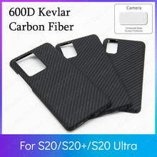 600D Kevlar Real Pure Carbon Fiber Ultra Light Body Armor Funda Samsung S20 Ultra Case S20+ S20 Plus 5G Bumper Cover