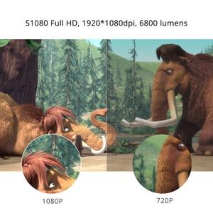 Image 2 - Touyinger S1080 C2 מלא HD 1080P LED מקרן (4K וידאו אנדרואיד 9 Wifi אופציונלי) חכם קולנוע ביתי AC3 200 אינץ 4D Keystone