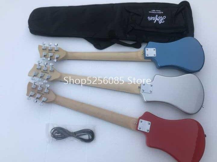 Livraison gratuite multi couleur hofner Shorty mini voyage guitare portable débutant guitare enfant guitare électrique - 6